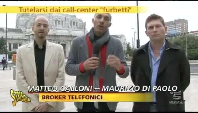 Matteo Calloni Broker per la telefonia a Striscia la Notizia