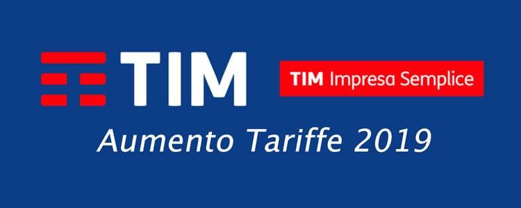 Aumento Tariffe TIM Business 2019: Rincari Tariffe TIM Aziendali e per Partite IVA