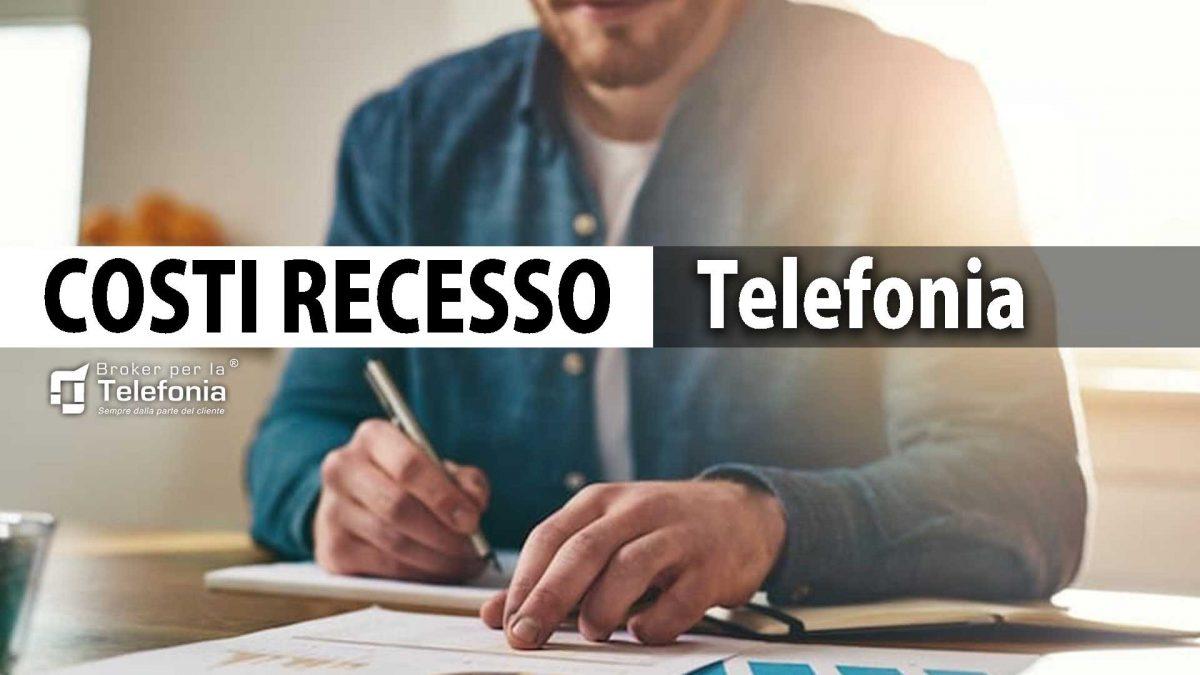 costi recesso telefonia