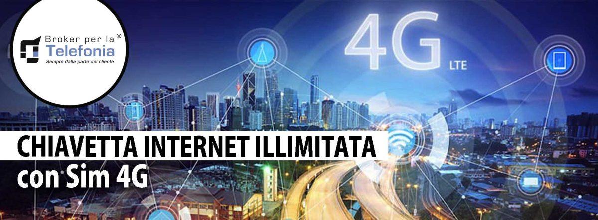 Chiavetta Internet Illimitata con Sim 4G
