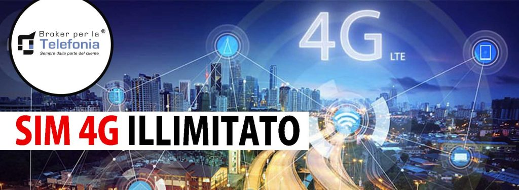 SIM Dati per Internet Mobile Illimitato 4G LTE