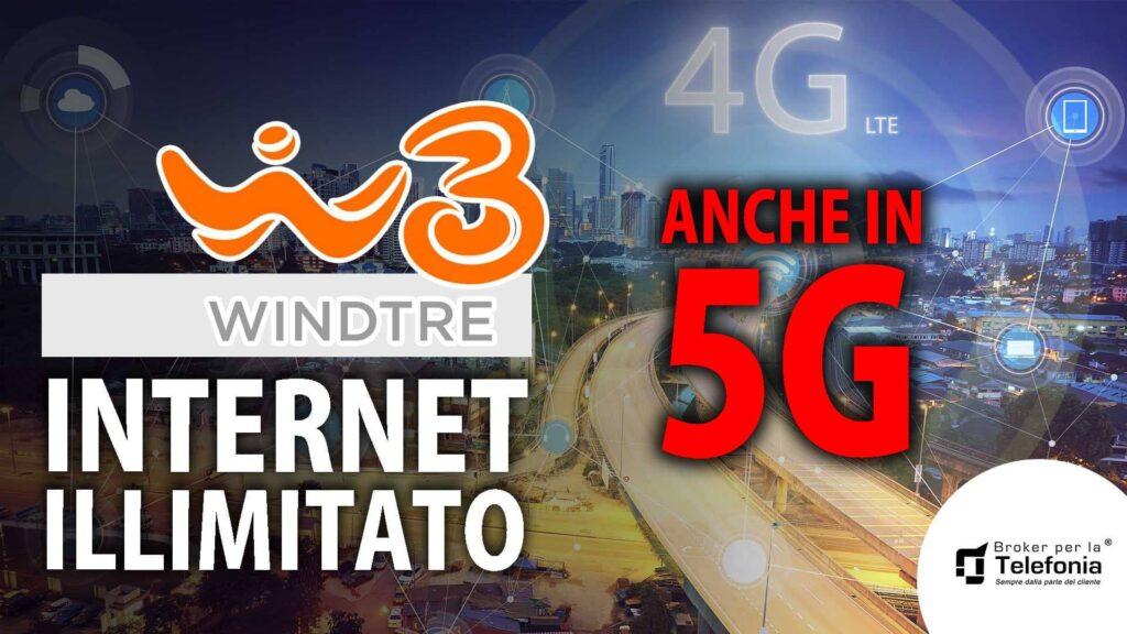Wind Internet Illimitato offerte sia in 4g che in 5g